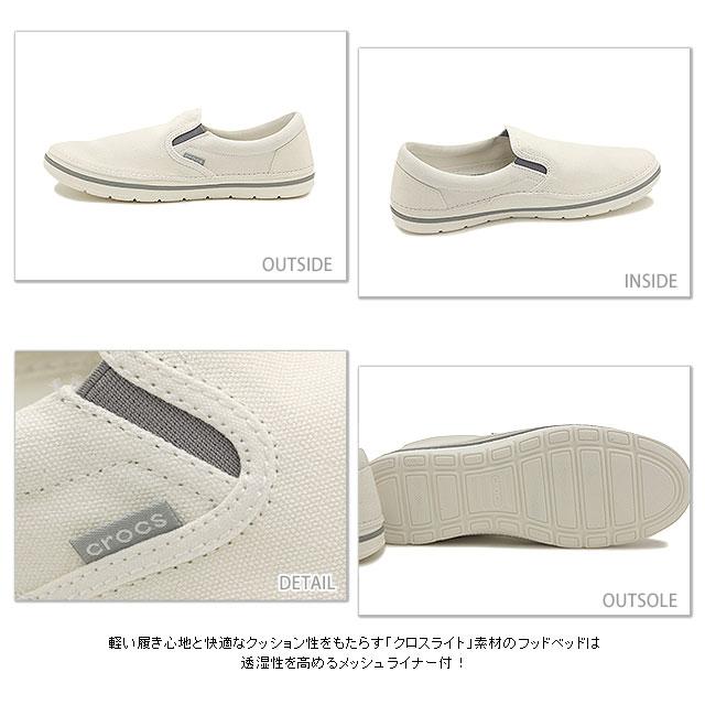 鳄鱼鳄鱼男装女装 crocs norlin 滑 m norrinslipon 男子白 (201084 143 SS15)