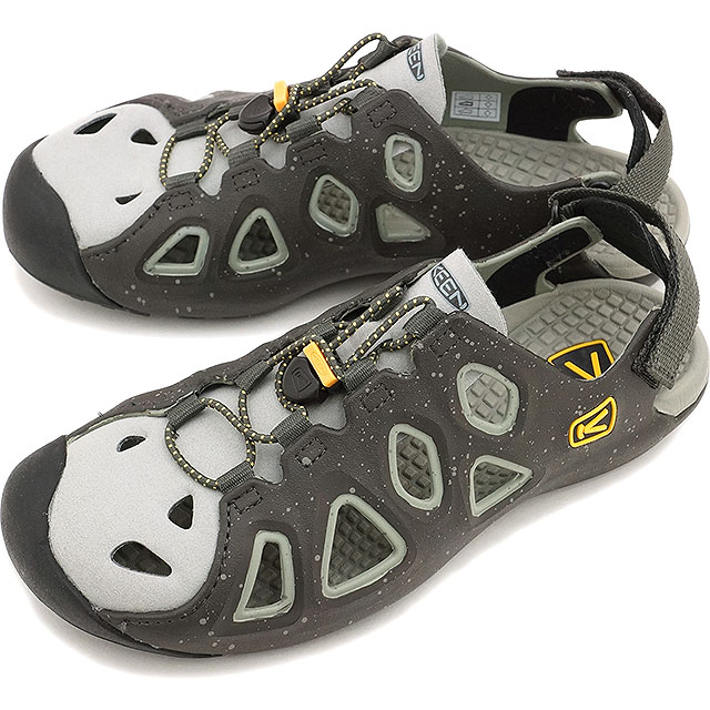 KEEN keen men's Sandals water shoes Class 6 MNS class six men's RAVEN/NEUTRAL  GRAY (1012572 SS15)