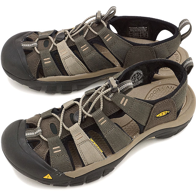 3a46931a9dd2 Kean Newport H two men sandal water shoes KEEN Newport H2 MNS BLACK  OLIVE BRINDLE (1012202 SS15)