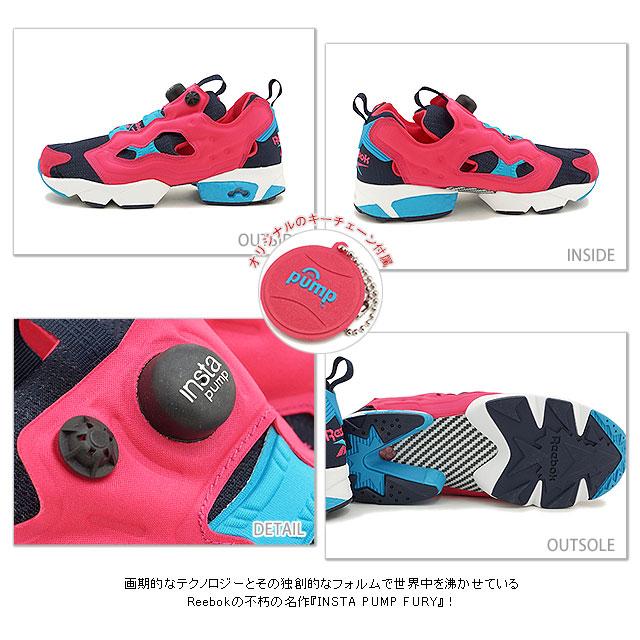 锐步锐步运动鞋 INSTA 泵愤怒 OG (U) insta 泵愤怒 OG 超快的粉红色和假靛蓝 / 马里布蓝 / 白色 (M46893 SS15)