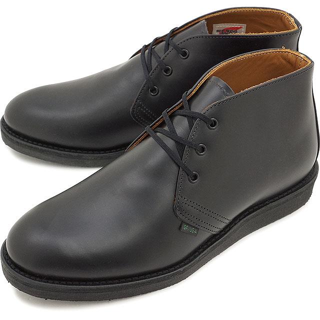 【返品サイズ交換可】レッドウィング ポストマン チャッカブーツ REDWING 9196 POSTMAN CHUKKA BLACK CHAPARRAL 靴【コンビニ受取対応商品】