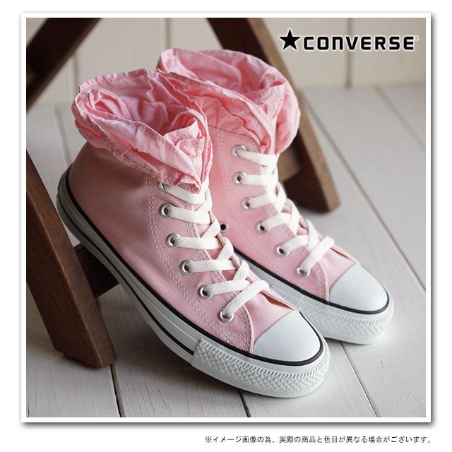 匡威匡威运动鞋所有明星 CHAMBRAYFRILL HI 全明星纺皱纹高切粉红色 (32694338 SS15)
