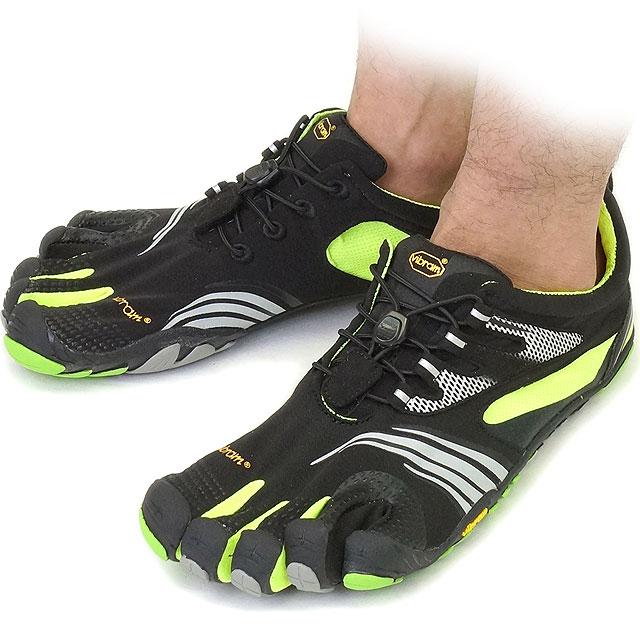 Vibram FiveFingers Vibram five fingers mens KMD SPORT LS Black/Yellow/Green Vibram five fingers five finger shoes barefoot (14M3601)
