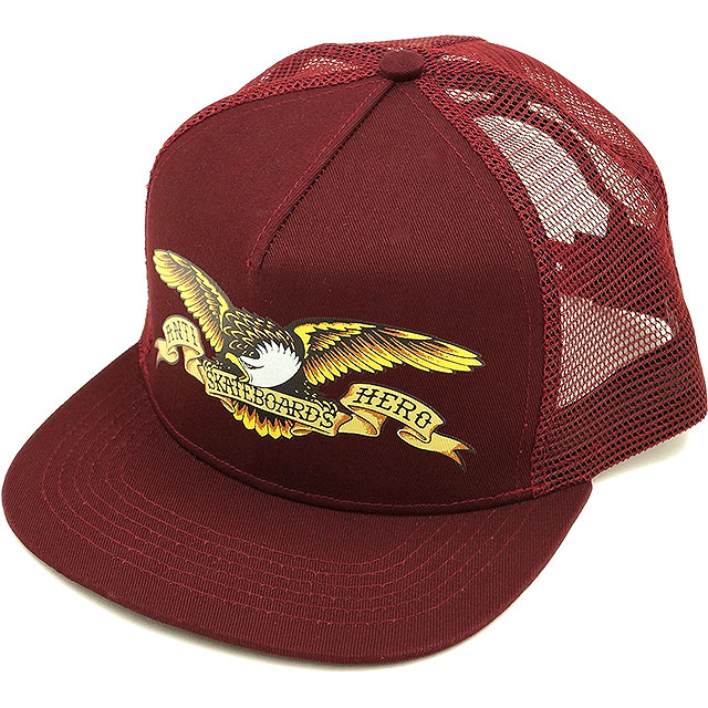ANTIHERO-antihero (anti-hero) Cap Hat mens ladies Eagle Trucker Maroon  (50020019 B SS15) 0814e454976