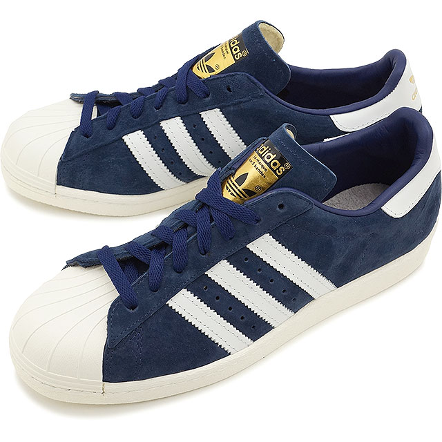 61999782b7f0 adidas Originals Adidas originals sneakers SUPERSTAR 80s DLX SUEDE superstar  eighty DLX suede college navy   vintage white S15  goal domet (B35988 SS15)