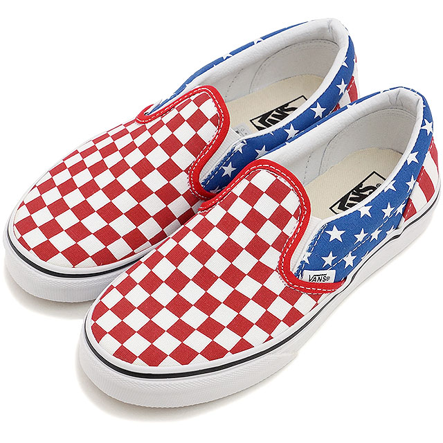 9020544e4c8880 VANS vans sneakers kids KIDS CLASSIC SLIP-ON kids classical music slip-on  (STARS   STRIPES) TRUE RED CLASSIC BLUE (VN-0ZBUFLJ SS15)