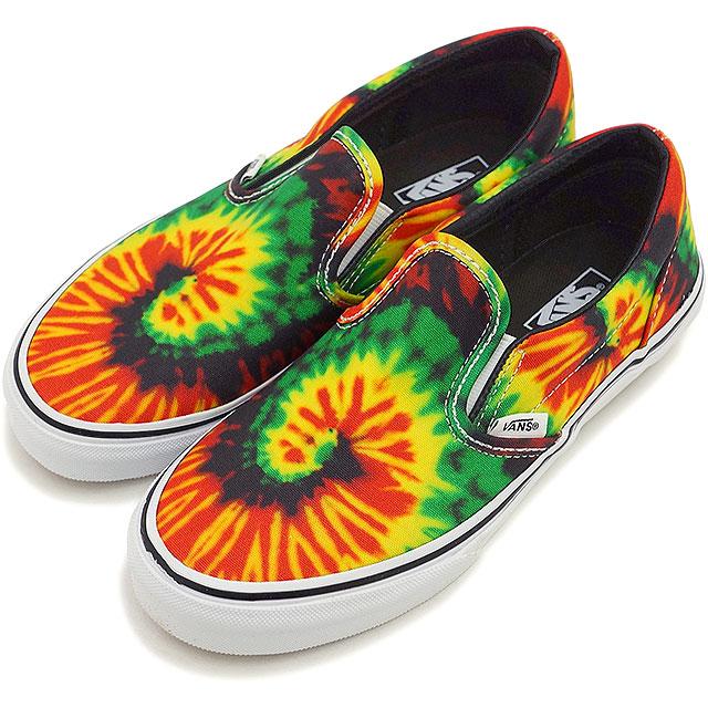 b14050b319c1 VANS vans sneakers kids KIDS CLASSIC SLIP-ON kids classical music slip-on ( TIE DYE) RASTA MULTI (VN-0ZBUFQ1 SS15)