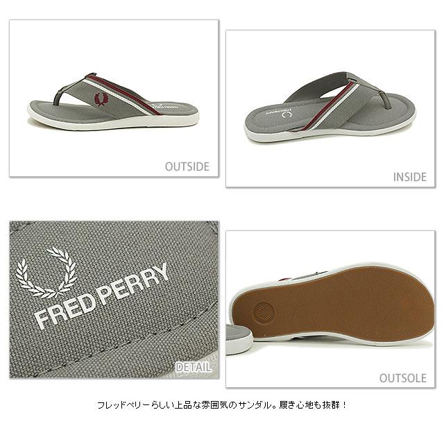 FRED PERRY Fred Perry Sandals men's WEBBING SEACROFT seacraft webbing thong Sandals (flip-flops) CLOUDBURST/MAROON/WHTE (B6287-119 SS15)