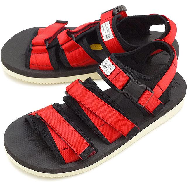 c22d99709d9ee7 SUICOKE Sui cook men gap Dis strap sandals vibram sole GGA-V red (OG ...