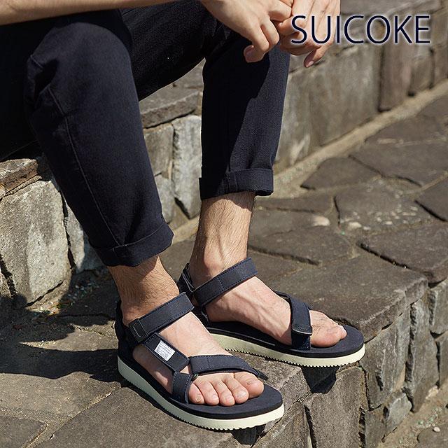 d65ecbb3755a SUICOKE Sui cook men gap Dis strap sandals vibram sole DEPA-ecs navy  (OG-022A SS15)