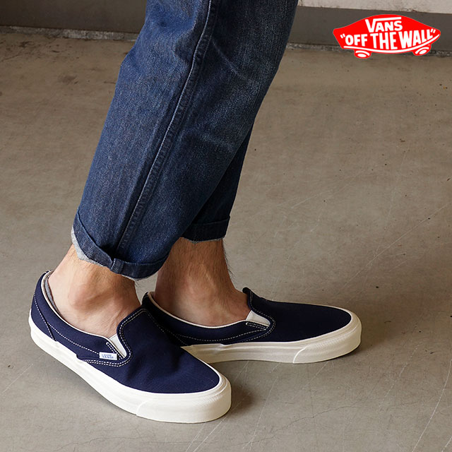 1e1f66e8b28 VANS vans sneakers men gap Dis VAULT OG CLASSIC SLIP ON LX classical music  slip-on LX (CANVAS) PEACOAT (VN-0UDFF9L SS15)