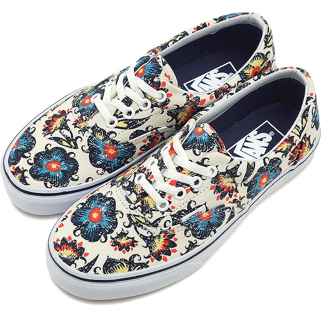 3362d0d2b4 VANS vans sneakers men gap Dis CLASSICS ERA gills (VINTAGE FLORAL) CLASSIC  WHITE DRESS BLUES (VN-0ZULFT5 SS15)