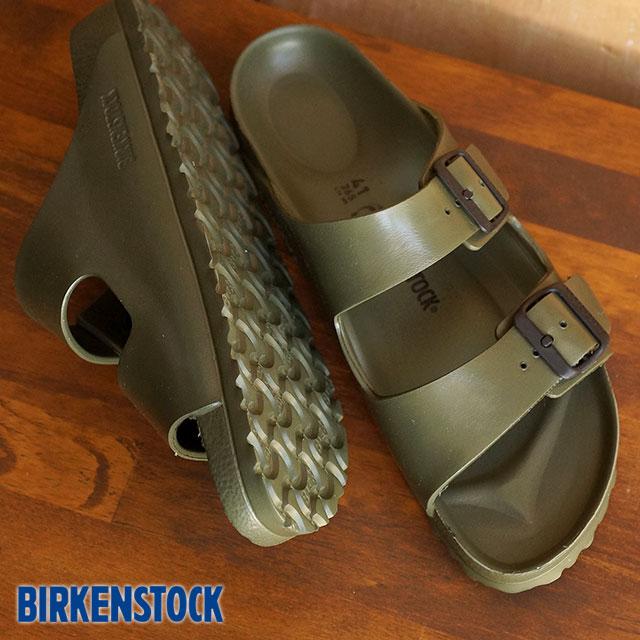 BIRKENSTOCK birukenshutokkuredisumenzu ARIZONA凉鞋亚利桑那州EVA Khaki(12万9493/129491 SS15)