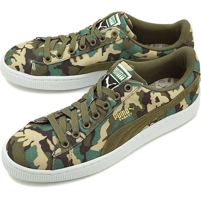 b9d39cd0fc PUMA Puma sneakers men gap Dis BASKET CANVAS CAMO basket canvas duck duck  green (358,630-03 SU15)