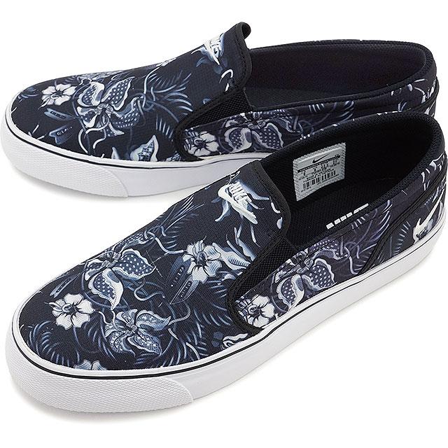 43c3bc90cbbe NIKE Nike men s sneakers TOKI SLIP TXT PRINT Toki slips TXT print Black    White   Wolf grey (724761-010 SU15)