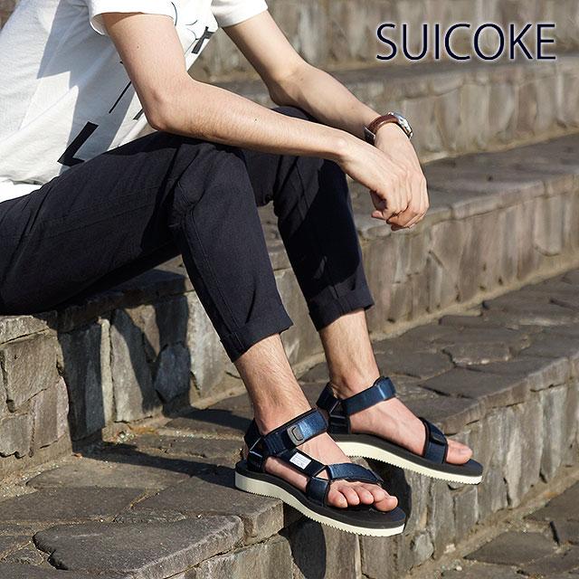 2f607e83c7c SUICOKE Sui cook men gap Dis strap sandal vibram sole DEPA-V2 navy  (OG-022V2 SS15)
