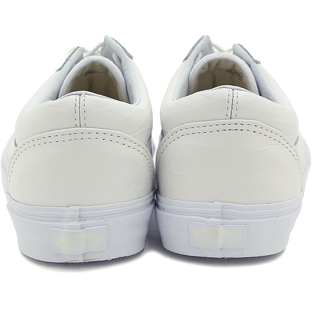 VANS vans sneakers men gap Dis CALIFORNIA Old Skool Reissue CA California old school Lee Shu (Croc Leather) TRUE WHITE (VN 03CWHF8 SS15)