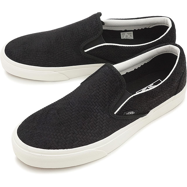 8d8a0f09dc VANS vans slip-ons sneakers men gap Dis CLASSIC SLIP-ON classical music slip -on (BRAIDED SUEDE) BLACK (VN0003Z4INY SS16)