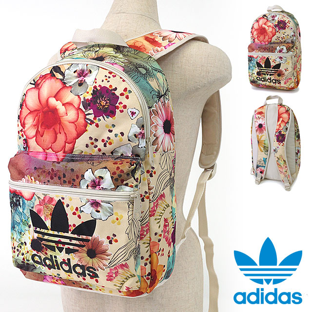 124e9ccd72 adidas Originals adidas originals apparel men s women s BACKPACK CLASSIC  CONFETE backpack classic flower print backpack multi color   bone AP0574  SS16