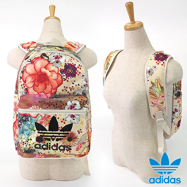 ac998ae28489 adidas Originals adidas originals apparel men s women s BACKPACK CLASSIC  CONFETE backpack classic flower print backpack multi color   bone AP0574  SS16