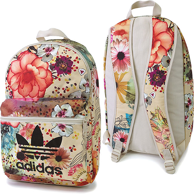 a7c1591e2d14 adidas Originals adidas originals apparel men s women s BACKPACK CLASSIC  CONFETE backpack classic flower print backpack multi color   bone AP0574  SS16
