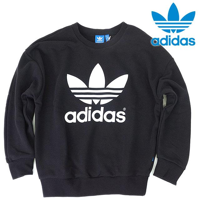 adidas Originals adidas originals apparel Womens TREFOIL SWEATSHIRT trefoil  hoodies T shirt black AJ8397 SS16 0e8b0e72de