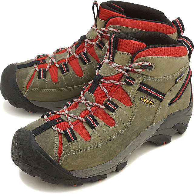 25539b01f43 KEEN Kean men trekking shoes Targhee II Mid WP MEN Targhee two mid  waterproof Neutral Gray/Bossa Nova (1014191 SS16)