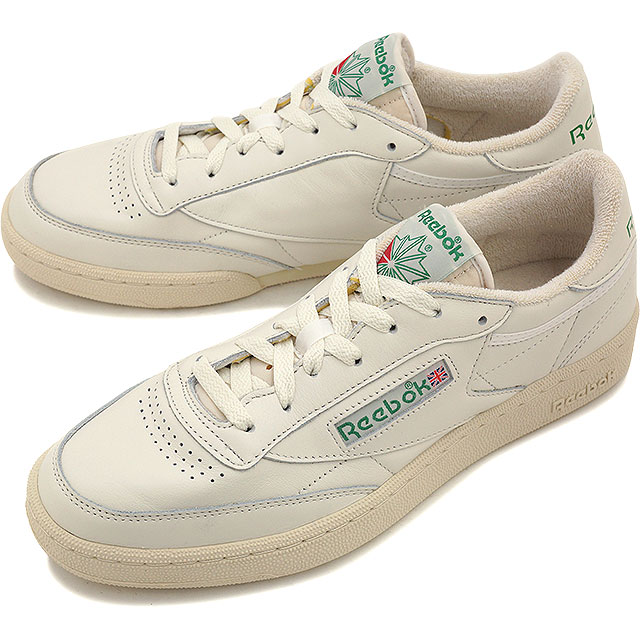 Reebok classics men s women s sneaker Club Champion 85 vintage Reebok  CLASSIC CLUB C 85 VINTAGE CHALK PAPERWHITE GLEN GREEN EXCLINT RED (V67899  SS16) aa85cabcd