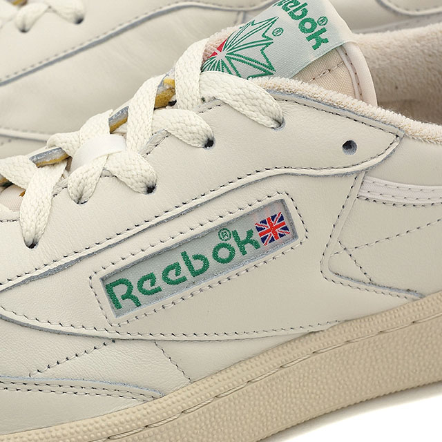 f79db6e06044 Reebok classics men s women s sneaker Club Champion 85 vintage Reebok  CLASSIC CLUB C 85 VINTAGE CHALK PAPERWHITE GLEN GREEN EXCLINT RED (V67899  SS16)