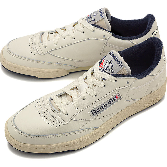 Reebok classical music men gap Dis sneakers club champion 85 vintage Reebok  CLASSIC CLUB C 85 VINTAGE CHALK PAPERWHITE COLLEGIATE NAVY EXCLNT RED  (V67900 ... bc6e23786