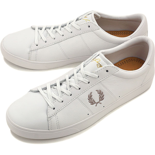 FRED PERRY フレッドペリー スニーカー 靴 メンズ・レディース SPENCER LEATHER スペンサー レザー WHITE/1964 SILVER [B8221-200]