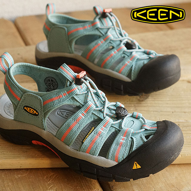 a3521e95aba7 Kean KEEN Lady s sandal Newport H2 WOMEN Newport H two Mineral Blue Fusion  Coral (1014198 SS16)