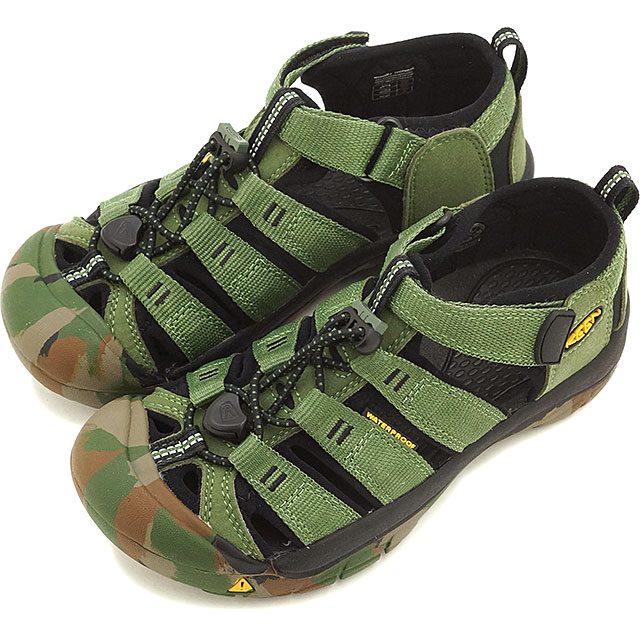 83c7b13e5069 KEEN Kean kids use sandal Newport H2 YOUTH Newport H two Crushed Bronze  Green (1014259 SS16)