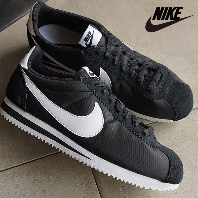 4366ee22496b Nike men s sneaker classic Cortez nylon NIKE CLASSIC CORTEZ NYLON black    white (807472-011 SS16)