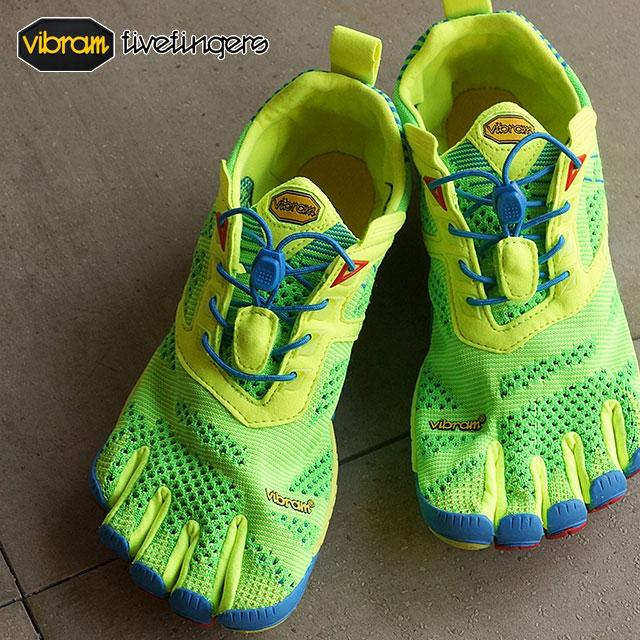 Vibram 五趾鞋 Vibram 五手指男裝 KMD EVO catemdi Evo 黃色,藍色,紅色 Vibram 五手指五個手指鞋赤腳的 (15 M 4003)