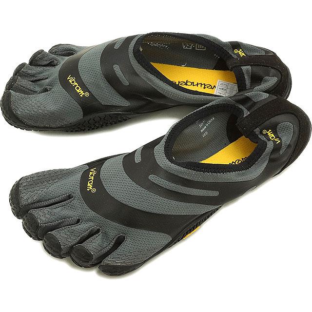 Vibram FiveFingers ビブラムファイブフィンガーズ メンズ EL-X イーエルエックス Gray/Black ビブラム ファイブフィンガーズ 5本指シューズ ベアフット靴 [16M0101]
