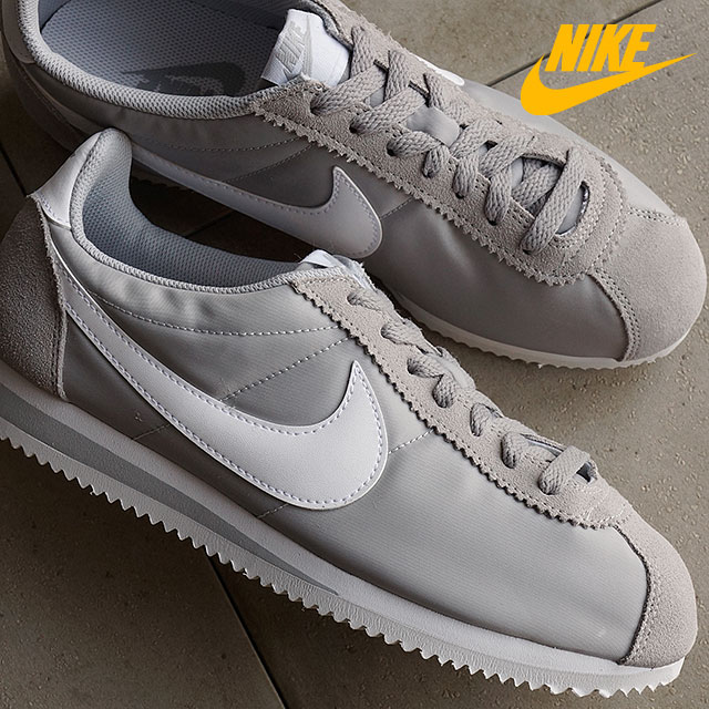 the latest 71771 44a20 Nike mens sneaker classic Cortez nylon NIKE CLASSIC CORTEZ NYLON Wolf grey   white (807472-010 SS16)