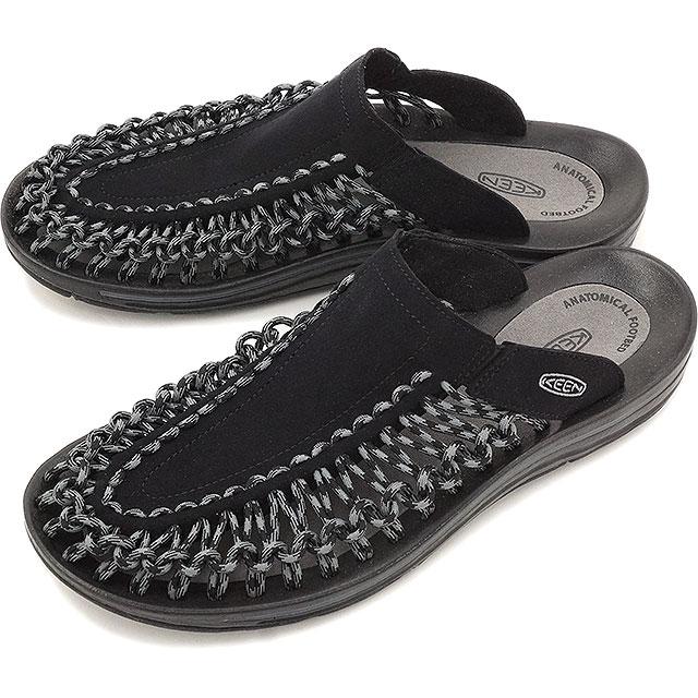 KEEN UNEEK SLIDE キーン ユニーク スライド サンダル 靴 Black/Gargoyle MEN [1014625 SS16]