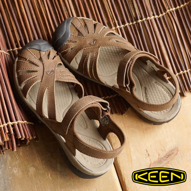 KEEN keen women s sandal Leather WOMEN Rose rose leather Dark Earth Brindle  (1012673 SS16)