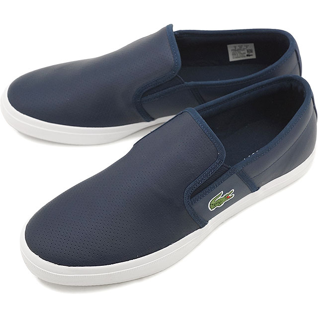 Lacoste men's sneakers slip-on Gazon sports LACOSTE GAZON SPORT 116 2 NVY [MSI017-003 SS16Q1]