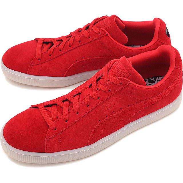 Discount Puma Sneakers Puma Suede Classic Womens RedBlack