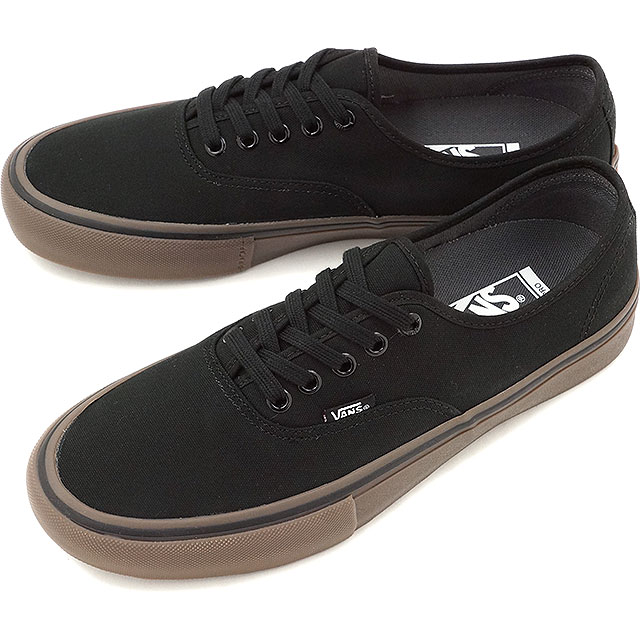 af1b123012b5 Vans men gap Dis skating shoes sneakers authentic professional VANS  AUTHENTIC PRO (CANVAS) BLACK GUM (VN000Q0D7HI SS16)