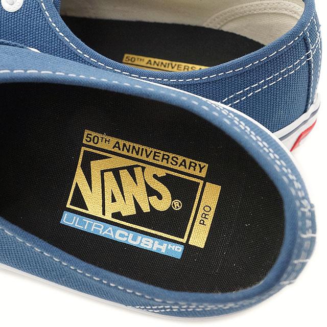 9af10fa1ecd2 Vans men gap Dis skating shoes sneakers shoes authentic professional VANS  AUTHENTIC PRO (50TH) 74 NAVY WHITE (VN000Q0DJ6M SS16)