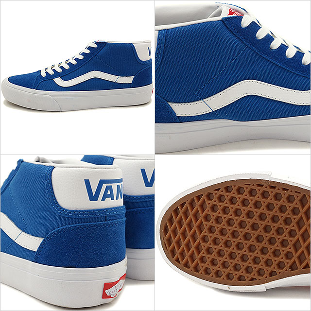 0434177e5762 Vans men gap Dis skating shoes sneakers mid school pro VANS MID SKOOL PRO ( 50TH) 79 BLUE WHITE (VN000Z15J6O SS16)