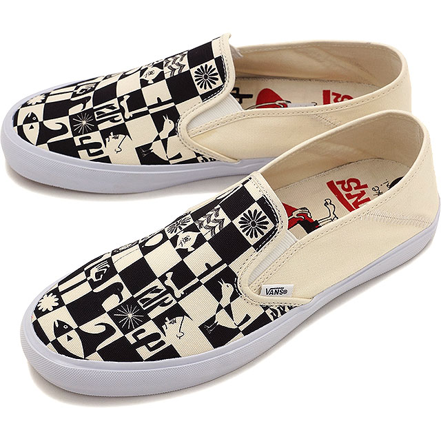 Vans Slipon SF SURF Yusuke Hanai checkerboard Classic White