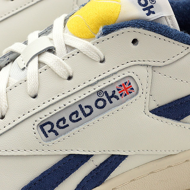锐步经典男式女式运动鞋人大英国网球锐步经典人大英国结核病粉笔/PAPERWHITE/午夜蓝色/黄色火花 (V67565 SS16)