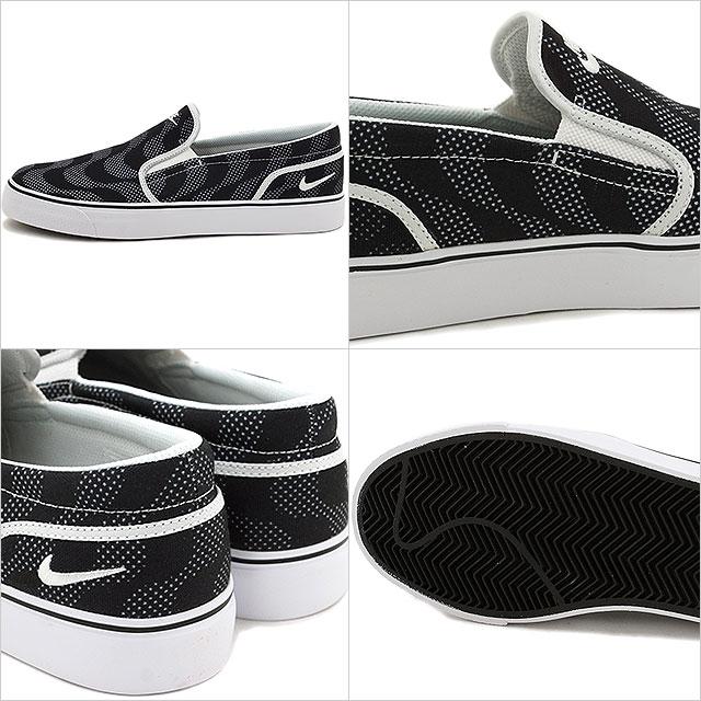 耐吉人懶漢鞋運動鞋朱鷺女式無袖內衣TXT印刷NIKE TOKI SLIP TXT PRINT黑色/白(724761-014 SU16)