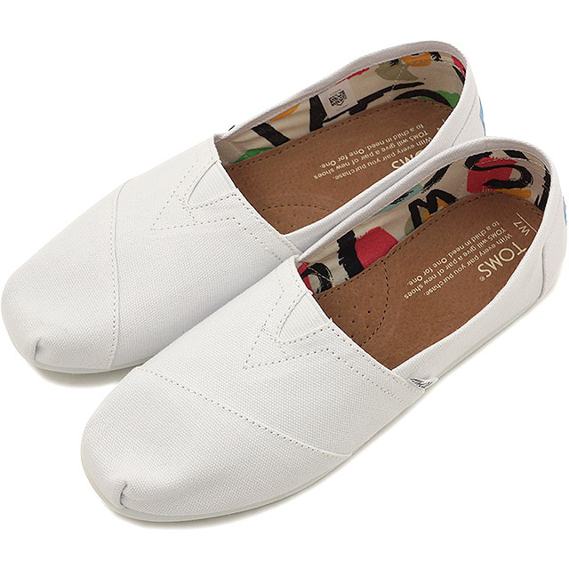 4f4972c7f75 Tom s shoes Lady s slip-ons TOMS SHOES WOMENS SEASONAL CLASSICS Optic White  Canvas shoes (10005987 SS16)
