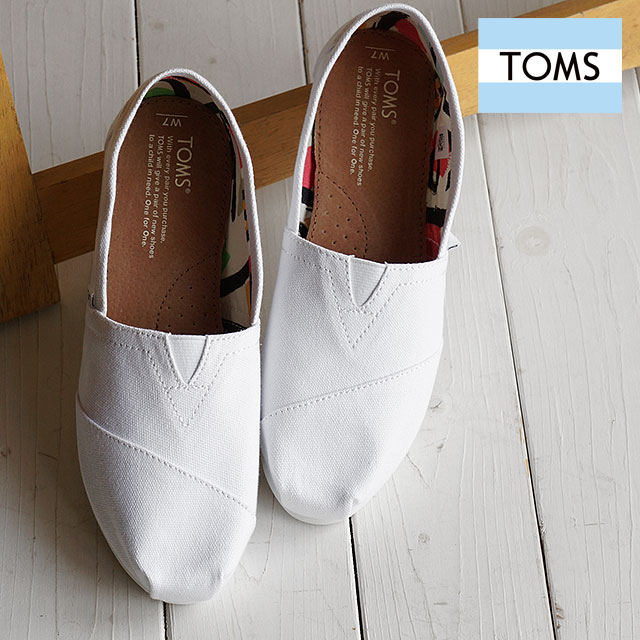 14723211d24 Tom s shoes Lady s slip-ons TOMS SHOES WOMENS SEASONAL CLASSICS Optic White  Canvas shoes (10005987 SS16)