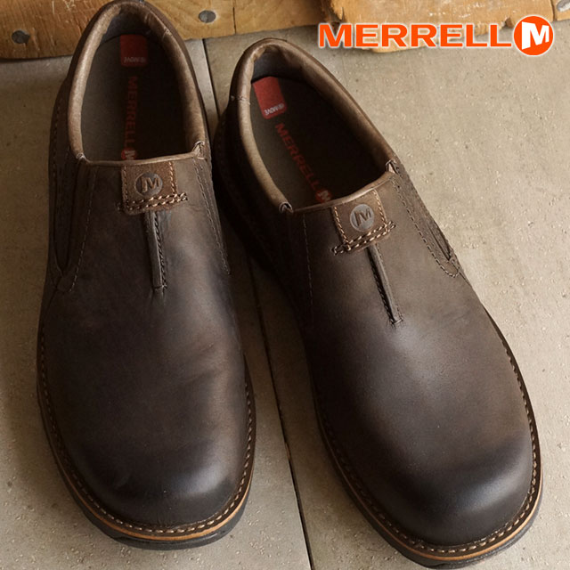 MERRELL REALM MOC MEN CHOCOLATE Merrell men s realm MOC slip-on walking  shoes (42147) d49d91ea6543